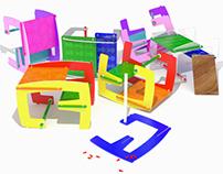 DUOMO - child's desk/rocker