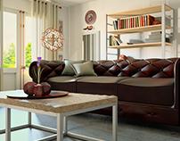 Maquete eletrônica - Chesterfield living room