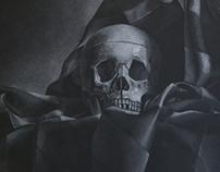 Skull and Drapery