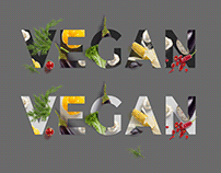 Vegan text Mockup. Print & Web