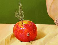 Giant Girl, oil on icon panel