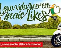 """Campanha Scooter Volti"""" Sua vida merece mais likes"""