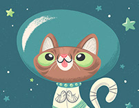 Lil Bub in Space