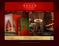 Ballo Italian Restaurant - Logo & Teaser Website