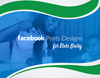 Facebook Posts Design for Etete Dairy