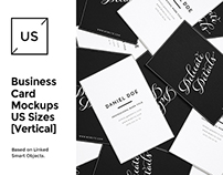 US Business Cards Mockups Set