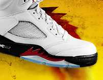 Air Jordan 5 Fire Red. Refreshed project.