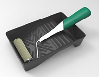 Form Study + Animations: Paint Rollers and Trays