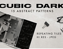 Cubic Dark Seamless Patterns