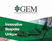 GEM - Global Enironmental Markets A4 Brochure Design