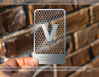 Stainless Steel Metal Business Card with Custom Cutouts
