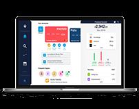 Web Design - Monzo desktop interface redesign