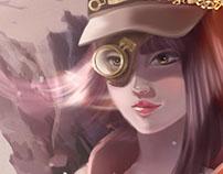 Steam Punk Character Concept Art