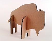 Zabawki z kartonu - Żubr / Cardboard toys -  Aurochs