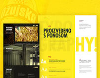 Ozujsko beer — website redesign