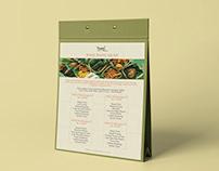 Menu Design - Nasi Bancakan by Basil Bistro