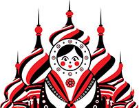 White Russian Illustration