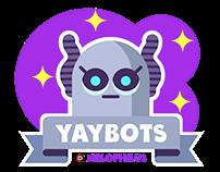 iOS digital stickerpack YAYBOTS!