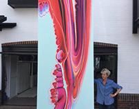 400cm x 150cm commission for London restaurant.