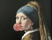 Ragazza con chewing gum