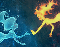 Fire & Water- Illustration