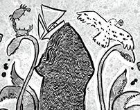 Norfolk Illustration- waves of a squid