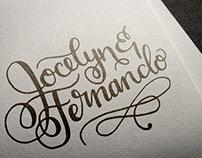 Jocelyn & Fernando Calligraphy Monogram