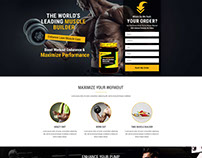 Food Supplements Landing Page Template With Free Landi