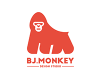 BJ.Monkey Design Studio Logo