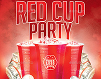 Red Cup Party | Summer Night PSD Flyer Template