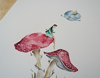 Mushroom Wonderland - Watercolors