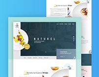 Website for a caterer - Naturel - 1day/1site