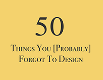 50 Things You [Probably] Forgot To Design Challenge