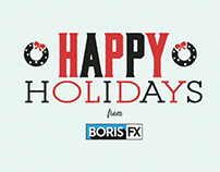 Boris FX Animated Holiday Card