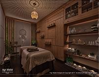 Massage room in Leisure spa, Alexandria, Egypt