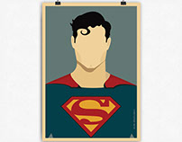 Superman Illustrated Poster