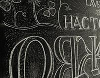 blackboard lettering