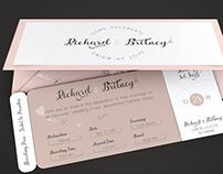 Pinky Wedding Boarding Pass Invitation Template