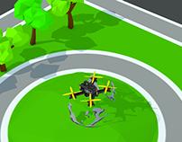 Micro Drone City Flow