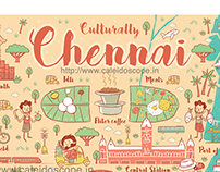 Illustrated map- Culturally Chennai
