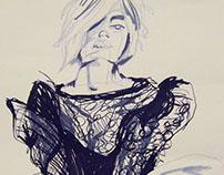 Blind Contour - Fashion Illustrations