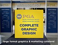 PNW PGA Merchandise Show Graphic Design