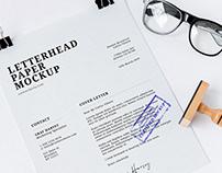 Free Letterhead Paper Mockups
