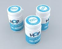 """Design packaging """"Hop Spiruline"""""""