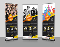 Global Youth Summit Roll-Up Banner Template