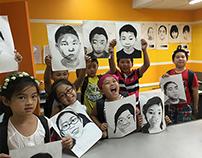 Self-Portrait Drawing Class