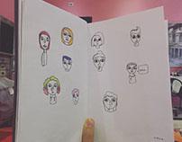 Ink on paper illustrations