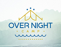 Over Night Camp - Logo & identity design