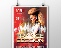 Trance Session Flyer PSD Template
