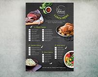Branding, Menu Design and Info Packs - The Venue